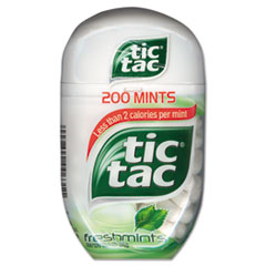 Tic Tac® Breath Mints, Freshmint, 3.4oz, 4/Box
