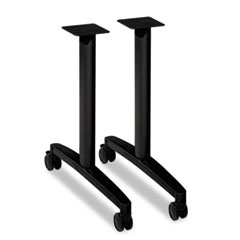 "HON® Huddle T-Leg Base for 24"" and 30"" Deep Table Tops, Black"