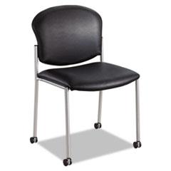 Diaz Guest Chair, Black Vinyl