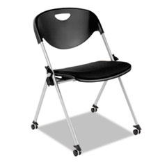 Alera SL Series Nesting Stack Chair Without Arms, Black Seat/Black Back, Gray Base, 2/Carton