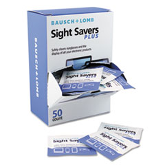 Bausch & Lomb Pre-Moistened Electronic Cleaning Tissues, 50 Tissues/Pack