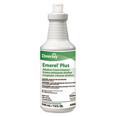 Diversey™ Emerel Plus Cream Cleanser, Odorless, 32 oz Squeeze Bottle, 12/Carton
