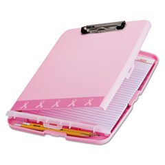 "Breast Cancer Awareness Clipboard Box, 3/4"" Capacity, 8 1/2 x 11, Pink"