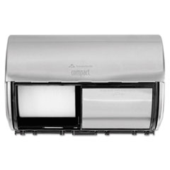 Georgia Pacific® Professional Compact Coreless Side-by-Side 2-Roll Dispenser, 10.13 x 6.75 x 7.13, Stainless