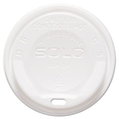 Dart® Gourmet Hot Cup Lids, For Trophy Plus Cups, 12-20 oz, White, 1500/Carton