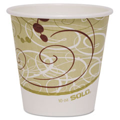 Dart® Polycoated Hot Paper Cups, 10 oz, Symphony Design, 1000/Carton