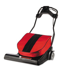 """Sanitaire® SPAN Wide Area Vacuum, 28"""" Cleaning Path, 74 lbs, Red"""
