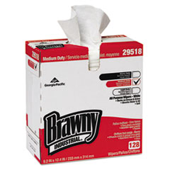 Georgia Pacific® Professional Brawny Ind. Airlaid Med-Duty Wipers, Cloth, 9 1/5 x 12 2/5, WE, 128/BX, 10 BX/CT