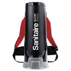 Sanitaire® TRANSPORT QuietClean HEPA Backpack Vacuum, 10 qt, Black