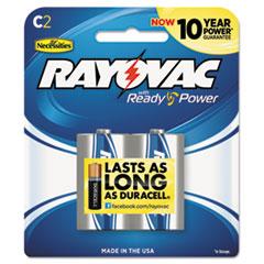 Rayovac® High Energy Premium Alkaline Battery, C, 2/Pack