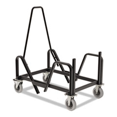 HON® Motivate Seating Cart High-Density Stacking Chairs, 21.38w x 34.25d x 36.63h, Black