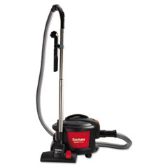 "Sanitaire® EXTEND Top-Hat Canister Vacuum, 9 Amp, 11"" Cleaning Path, Red/Black"