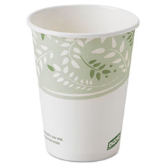 Dixie® EcoSmart Hot Cups, Paper w/PLA Lining, Viridian, 8oz, 1000/Carton