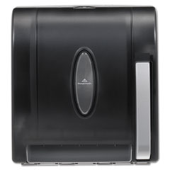 Georgia Pacific® Hygienic Push-Paddle Roll Towel Dispenser, Translucent Smoke