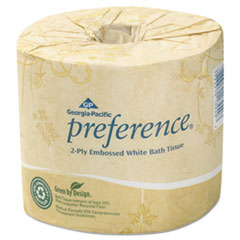 Georgia Pacific® Professional Embossed 2-Ply Bathroom Tissue, Septic Safe, White, 550 Sheet/Roll, 80 Rolls/Carton