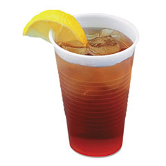 Boardwalk® Translucent Plastic Cold Cups, 5 oz, Polypropylene, 25 Cups/Sleeve, 100 Sleeves/Carton