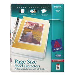 Avery® Page Size Heavyweight Three-Hole Punched Sheet Protector Thumbnail