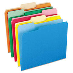 PFX15213ASST - Colored File Folders, 1/3 Cut Top Tab, Letter, Assorted Colors, 100/Box