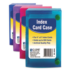 index card case holds 200 4 x 6 cards polypropylene assorted stone printing office supply - Index Card Holder