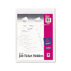 Avery® Job Ticket Holders, Heavy Gauge Vinyl, 9 x 12, Clear, 10/Pack