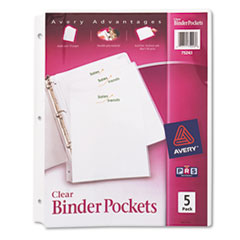 Avery® Binder Pockets