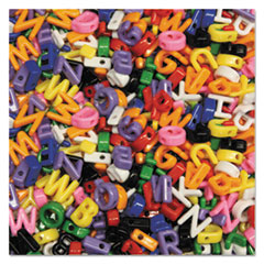 Upper Case Letter Beads, Assorted Colors, 288 Beads/Set