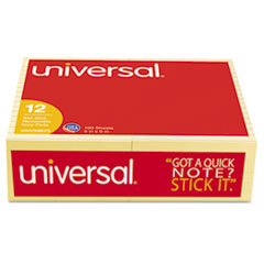 Universal® Standard Self-Stick Yellow Color Note Pads Thumbnail