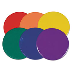 """Champion Sports Extra Large Poly Marker Set, 12"""" Diameter, Assorted Colors, 6 Spots/Set"""