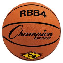 Champion Sports Rubber Sports Ball, For Basketball, No. 6, Intermediate Size, Orange