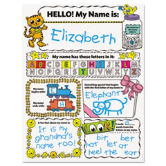 Scholastic My Name Personal Poster Set, 17 x 22, 30 posters