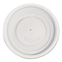 Dart® Polystyrene Vented Hot Cup Lids, 4oz Cups, White, 100/Pack, 10 Packs/Carton