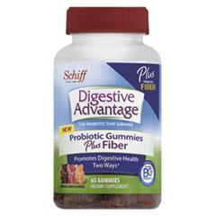 Digestive Advantage® Probiotic Gummies Plus Fiber, Natural Fruit Flavors, 65 Count