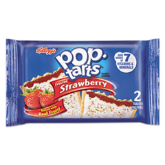 Kellogg's® Pop Tarts, Frosted Strawberry, 3.39oz, 2/Pack, 6 Packs/Box