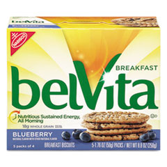 Nabisco® belVita Breakfast Biscuits, 1.76 oz Pack, Blueberry, 64/Carton
