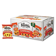Knott's Berry Farm® Premium Berry Jam Shortbread Cookies, Raspberry, 2 oz Pack, 36/Carton