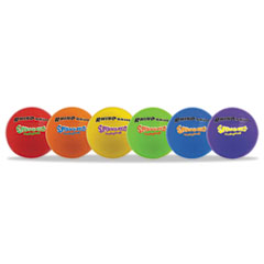 Champion Sports Super Squeeze Volleyball Set, Rhino Skin, Assorted, 6 Balls/Set