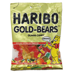 Haribo® Gummi Candy, Gummi Bears, Original Assortment, 5oz Bag, 12/Carton