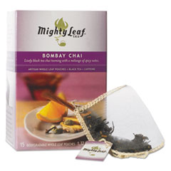 Mighty Leaf® Tea Whole Leaf Tea Pouches, Bombay Chai, 15/Box MYT40005