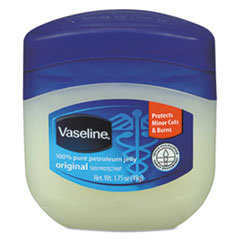 Vaseline® Petroleum Jelly, Original, 1.75oz Jar, 144/Carton