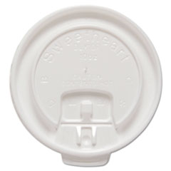 Dart® Liftback & Lock Tab Cup Lids for Foam Cups, Fits 10 oz Trophy Cups, WE, 100/PK