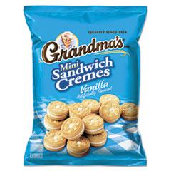 Grandma's® Mini Vanilla Creme Sandwich Cookies, 3.71 oz, 24/Carton