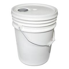 Impact® Utility Bucket w/Lid, Polyethylene, 5gal, White