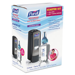 PURELL® ADX-7 Advanced Instant Hand Sanitizer Kit, 700mL, Manual, Chrome/Black, 4/CT GOJ8705D4CT