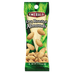 Emerald® Dry Roasted Almonds, 1.5 oz Tube Package, 12/Box