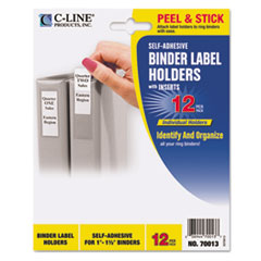 C-Line® Self-Adhesive Binder Label Holders