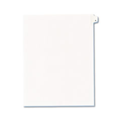 Avery® Allstate-Style Legal Exhibit Side Tab Divider, Title: A, Letter, White, 25/Pack