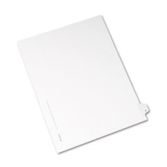 Avery® Allstate-Style Legal Exhibit Side Tab Divider, Title: B, Letter, White, 25/Pack