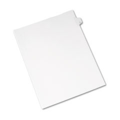Avery® Allstate-Style Legal Exhibit Side Tab Divider, Title: D, Letter, White, 25/Pack