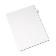 Avery® Allstate-Style Legal Exhibit Side Tab Divider, Title: E, Letter, White, 25/Pack