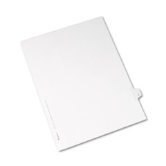 Avery® Allstate-Style Legal Exhibit Side Tab Divider, Title: F, Letter, White, 25/Pack